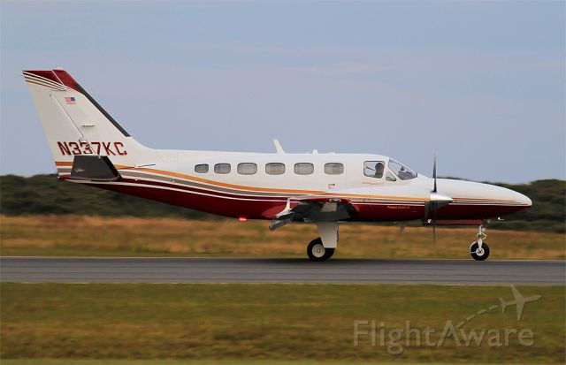 Cessna Conquest 2 (N337KC) - Rolling out from a landing on runway 24 at KACK