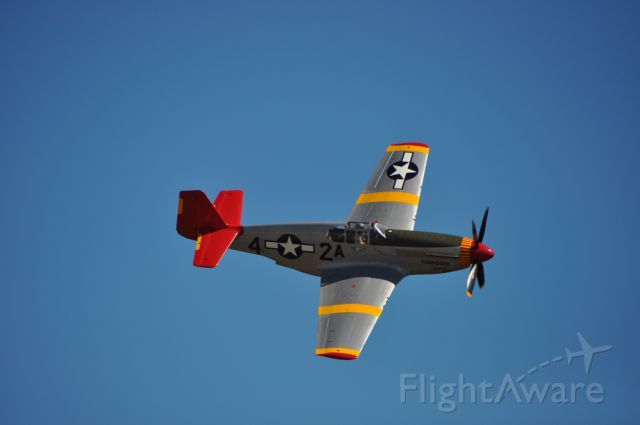 AMU61429 — - Mustang built in 1942 flying at the Homestead Air Reserve show 11/3/2012