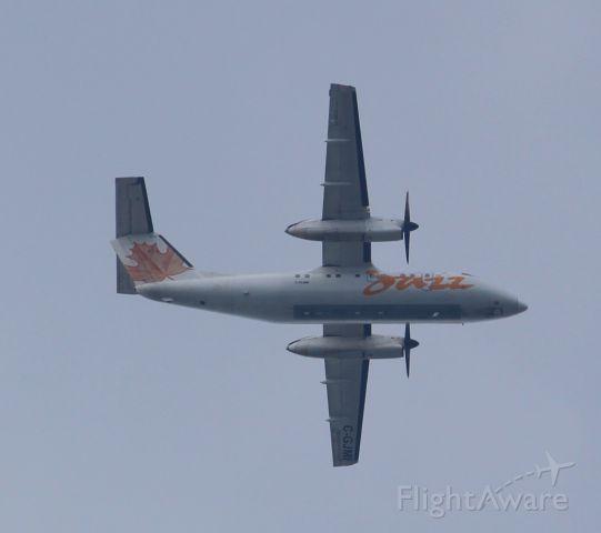 de Havilland Dash 8-100 (C-GJMI) - Taken from my backyard, aircraft circling before landing at CYYZ