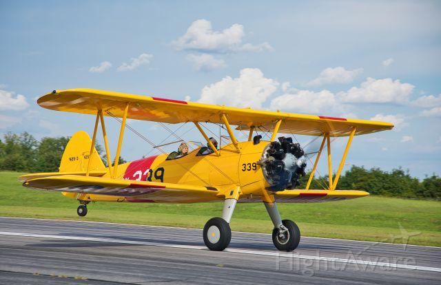 N4252 — - Boeing/Jones Stearman Model 75br /doing practice landings & takeoffs.