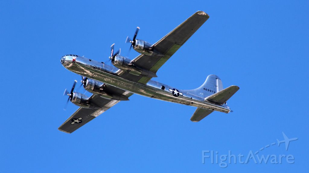 Boeing B-29 Superfortress (N69972) - B-29 Doc passing over the EAA AirVenture Crowd.
