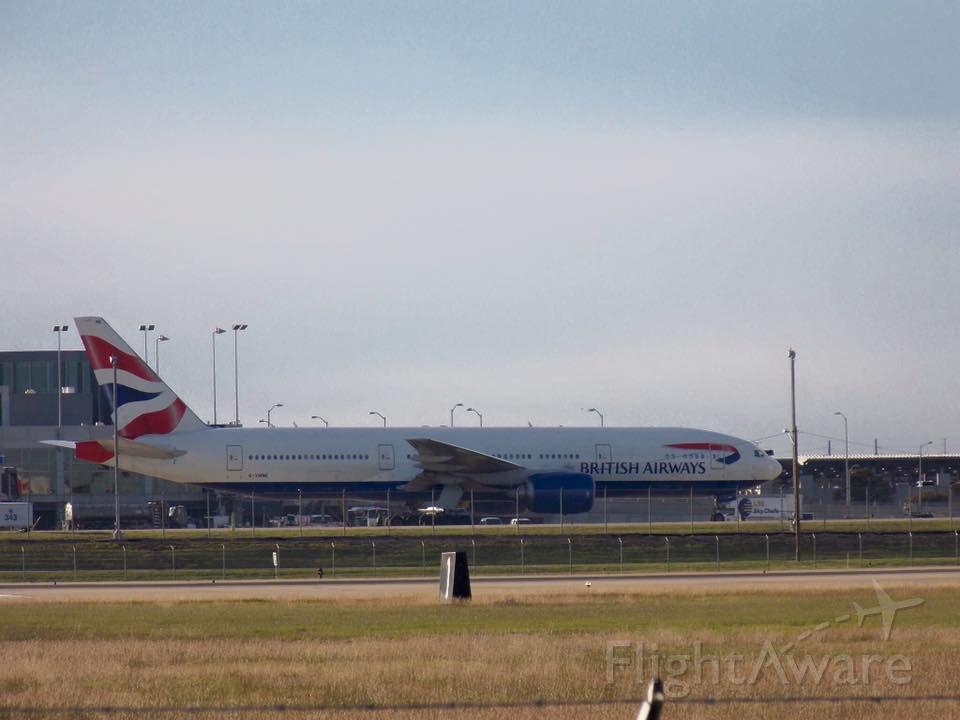 Boeing 777-200 (G-YMMI) - British Airways 777-200 at Kaus