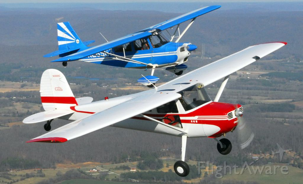 Cessna 140 — - Air-to-Air with a Cessna 140A and a Decathlon.  Photo copyright: BlakeMathis.com