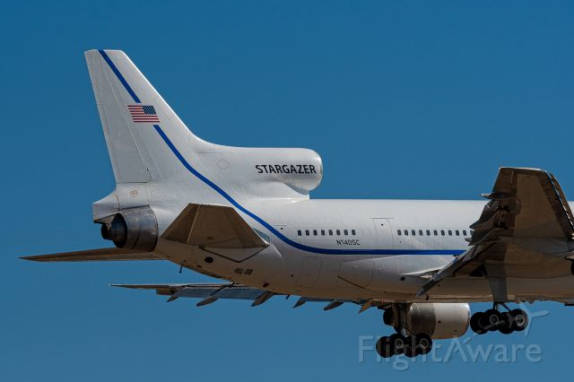 Lockheed L-1011 TriStar (N140SC) - The last TriStar lands at San Bernardino International airport 7/25/18 9:36 AM.