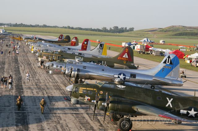 MULTIPLE — - 8 X B-17's from Thunder over Michigan 2010