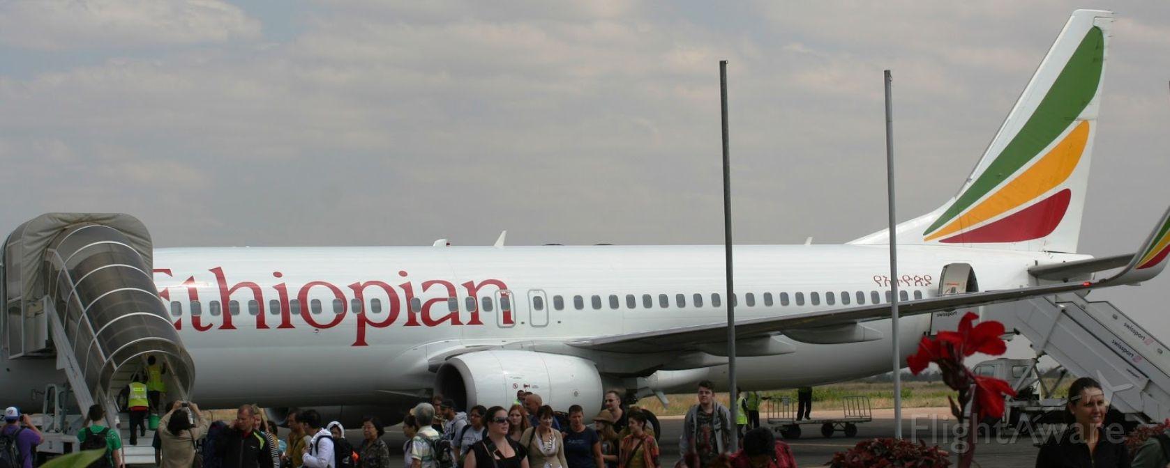 Boeing 737-800 (ET-AOA) - After arriving at Mek