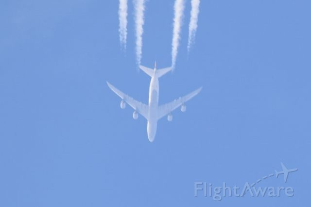 BOEING 747-8 (D-ABYA) - DLH464 routing EDDF-KMCO at FL340.  Taken over Northern Ireland at 1425 on 19 March 2016.