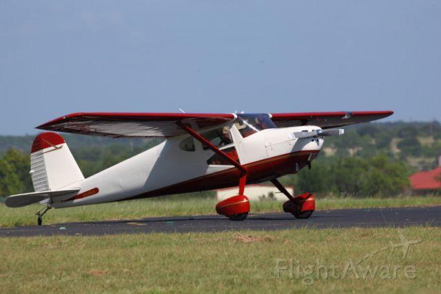 Cessna 140 (N140LA) - On the ramp in Breckenridge, Texas