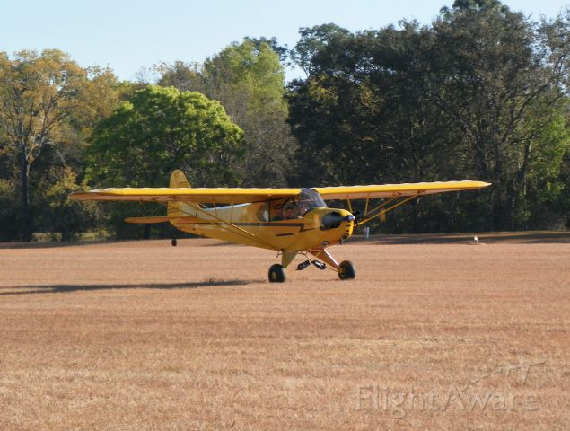 Piper L-21 Super Cub — - Fly In on 3/17/18. A couple kids go for a spin around the patch