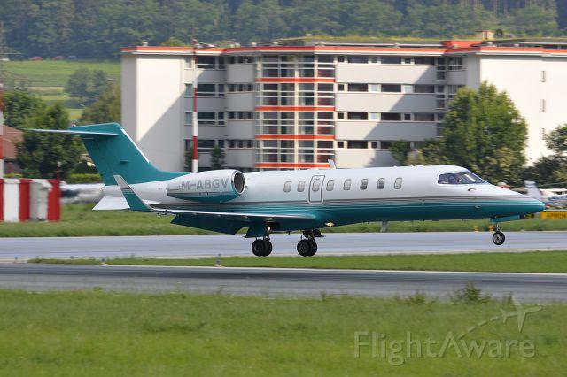 Learjet 45 (M-ABGV) - first visit of Ryanair at Innsbruck