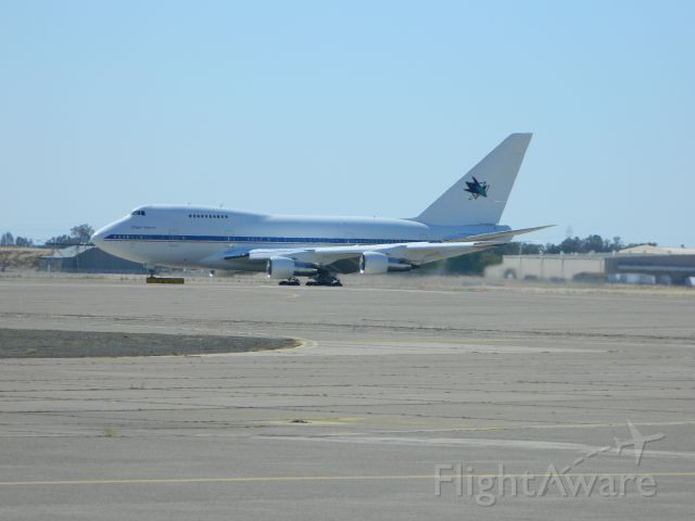 BOEING 747SP (N747A) - Frys Electronics B747SP. I live about a mile from KMCC. This aircraft spent a few hours doing touch and goes! I probably could have paid off my house with what that cost!