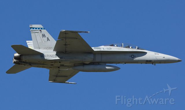 "McDonnell Douglas FA-18 Hornet (16-1733) - B model Hornet from VMFA 112 ""The Cowboys"" passing over the pattern at AFW 10/10/2018 (Please view in ""full"" for highest image quality)"