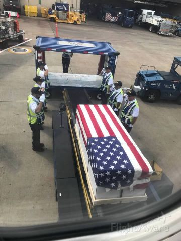 Boeing 737-700 — - A hero coming home.  I had the privilege of accompanying this hero from El Paso.