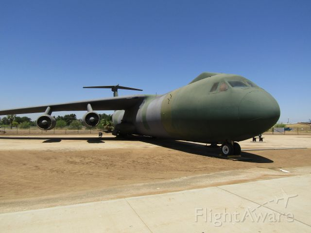 """Lockheed C-141 Starlifter (65-0257) - A Lockheed C-141B """"Starlifter"""" on display at March Field Air Museum."""