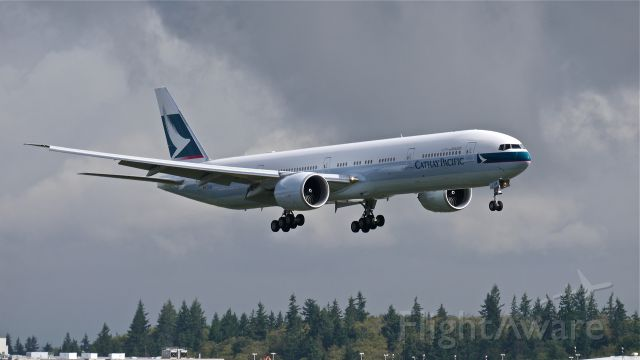 BOEING 777-300 (B-KQR) - BOE249 on final to Rwy 16R to complete a flight test on 10/1/14. (LN:1240 / cn 41759).