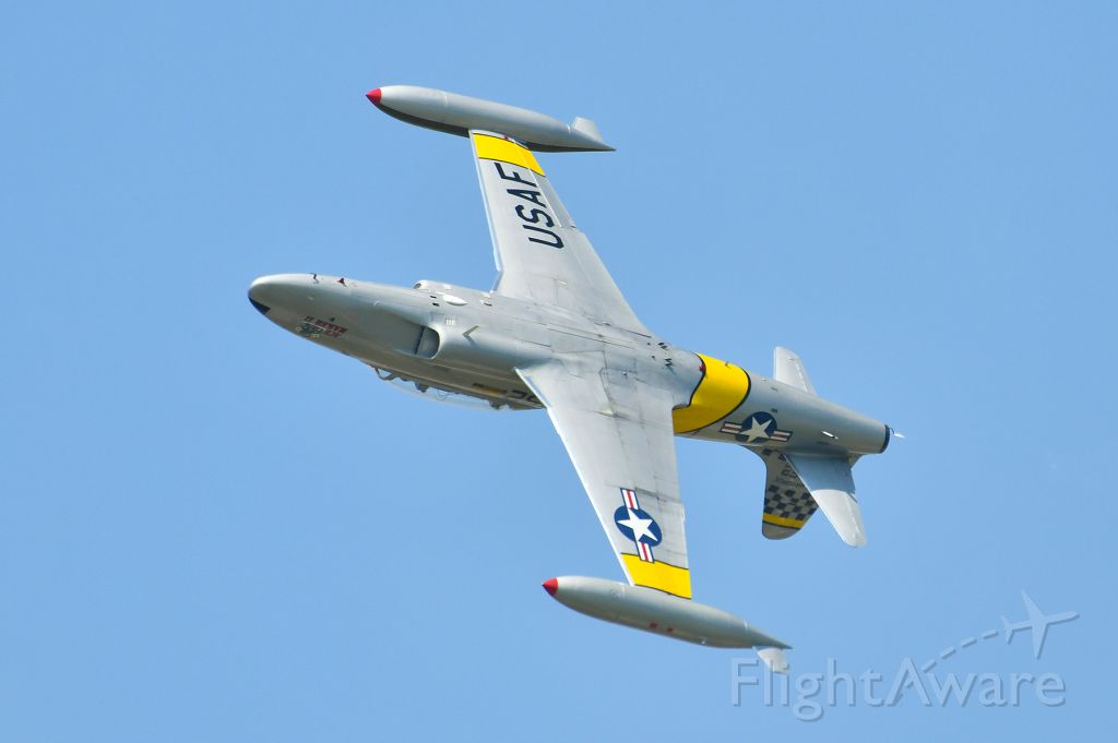 Lockheed T-33 Shooting Star (N21452) - T-33 flying at Selfridge ANG Base 100 year anniversary open house.