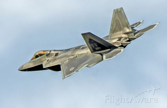 """Lockheed F-22 Raptor — - Near Hill Air Force Base. Every time I see the F22 I think of the movie transformers where the black dude says """"That ain"""
