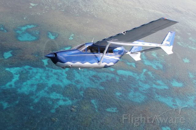 Cessna Super Skymaster (VH-OIQ) - Reef scenic flight over Great Barrier Reef with OutbackOvernight.com