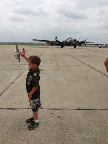 — — - An inspired young aviator during the AOPA Fly-in at San Marcos, TX