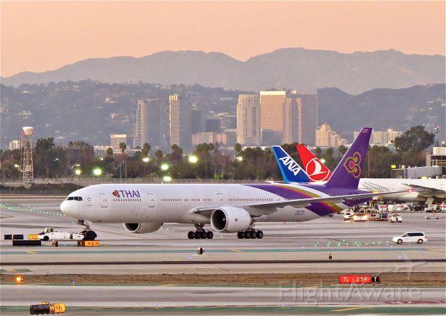 """BOEING 777-300 (HS-TKL) - <a rel=""""nofollow"""" href=""""http://flightaware.com/live/flight/HSTKL/history/20141104/1320Z/RKSI/KLAX"""">http://flightaware.com/live/flight/HSTKL/history/20141104/1320Z/RKSI/KLAX</a>"""