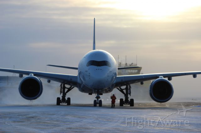 Airbus A350-900 (F-WZGG) - A350 arriving in YFB for cold weather testing