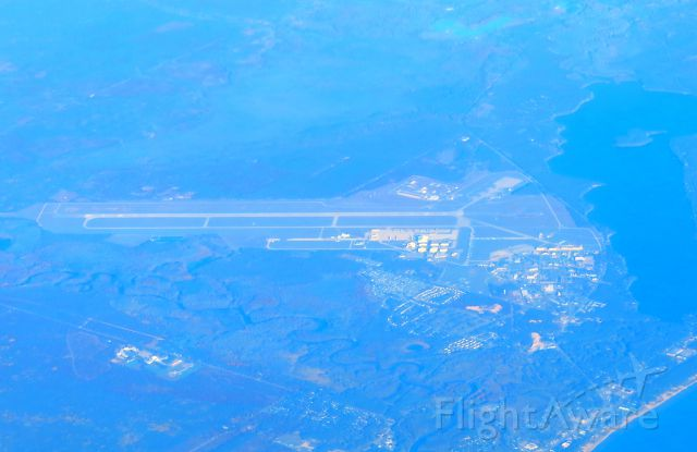 — — - Oscoda-Wurtsmith Airport as seen from Air Canada flight 1071 on October 13