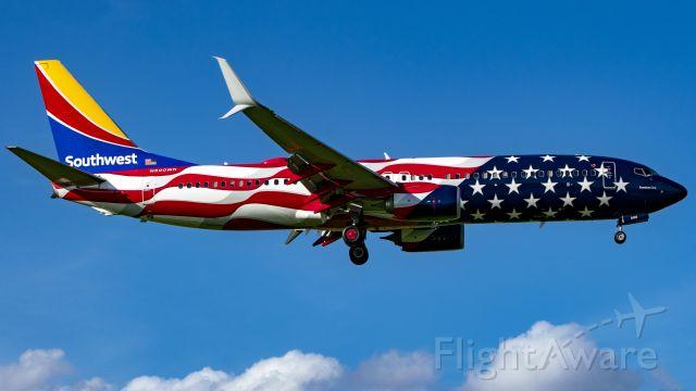 Boeing 737-800 (N500WR) - Freedom One arriving into KHOU runway 13R