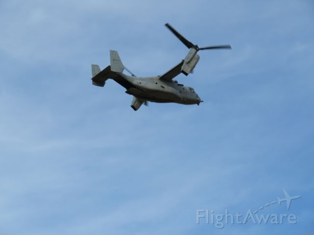 — — - Watched this plane fly over my house. The rotors were in transition.