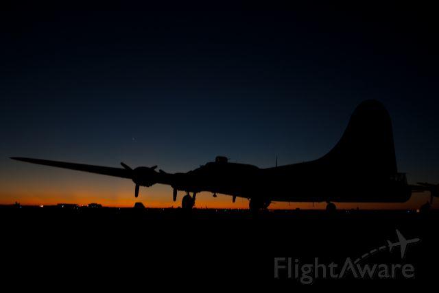 """N7227C — - B-17G """"Texas Raiders"""" lies dormant, welcoming the sun"""