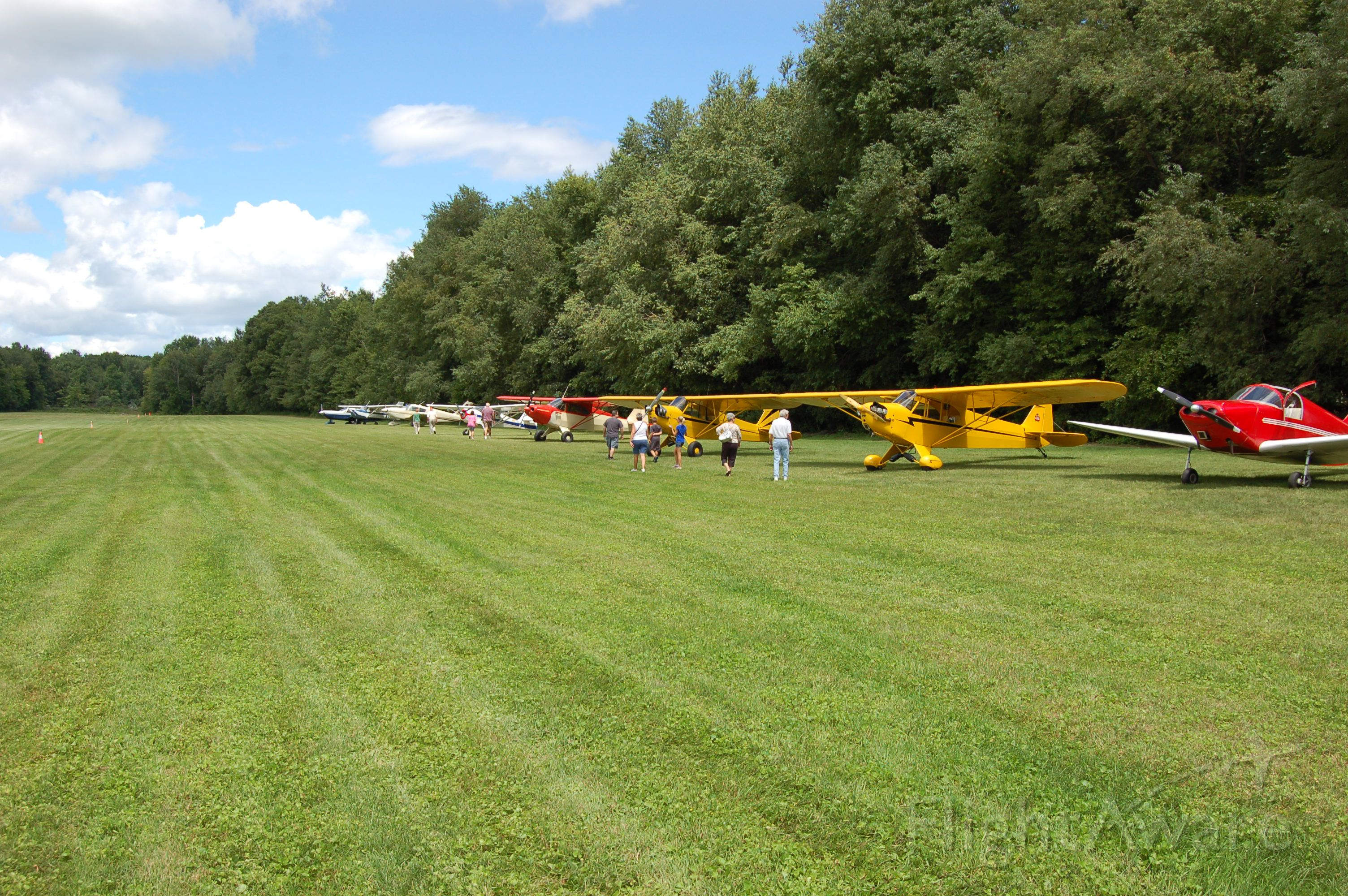 — — - Parking was almost full @ Wings & Wheels Sloas Airfield OH 08/13