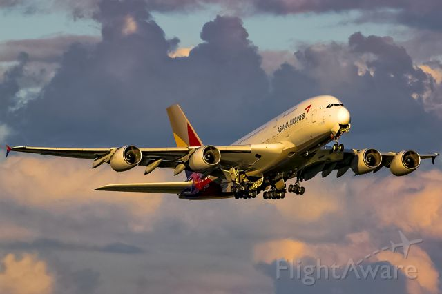 Airbus A380-800 (HL7625) - after rain