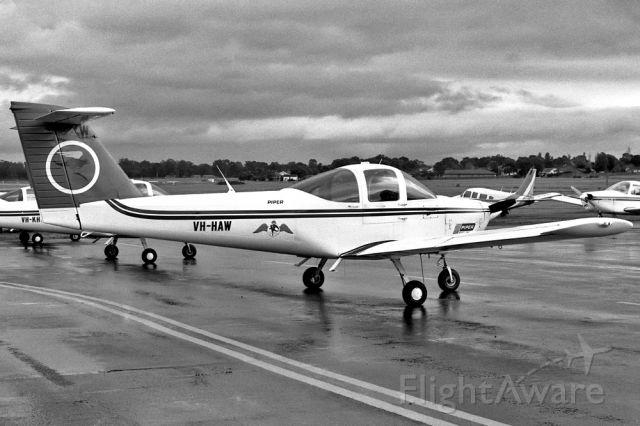Piper Tomahawk (VH-HAW) - PIPER PA-38-112 TOMAHAWK - REG VH-HAW (CN 38-79A0886) - ESSENDON MELBOURNE VIC. AUSTRALIA - YMEN (17/9/1996)35MM B/W NEGATIVE SCAN.