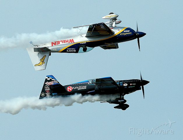 EXTRA EA-300 (N540JH) - Mike Goulian - Extra 330SC and Rob Holland - MX2