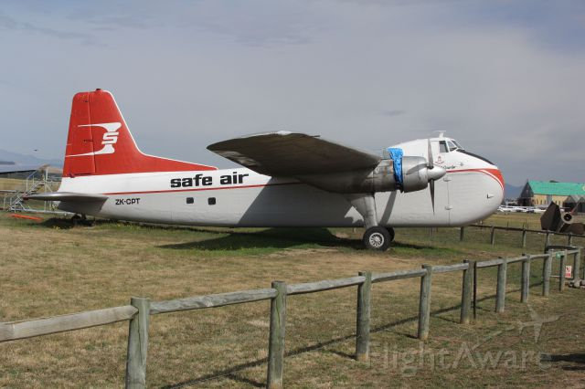 ZK-CPT — - Safe Air MK31 Bristol Freighter on display at the Omaka Areodrome in Blenheim, New Zealand