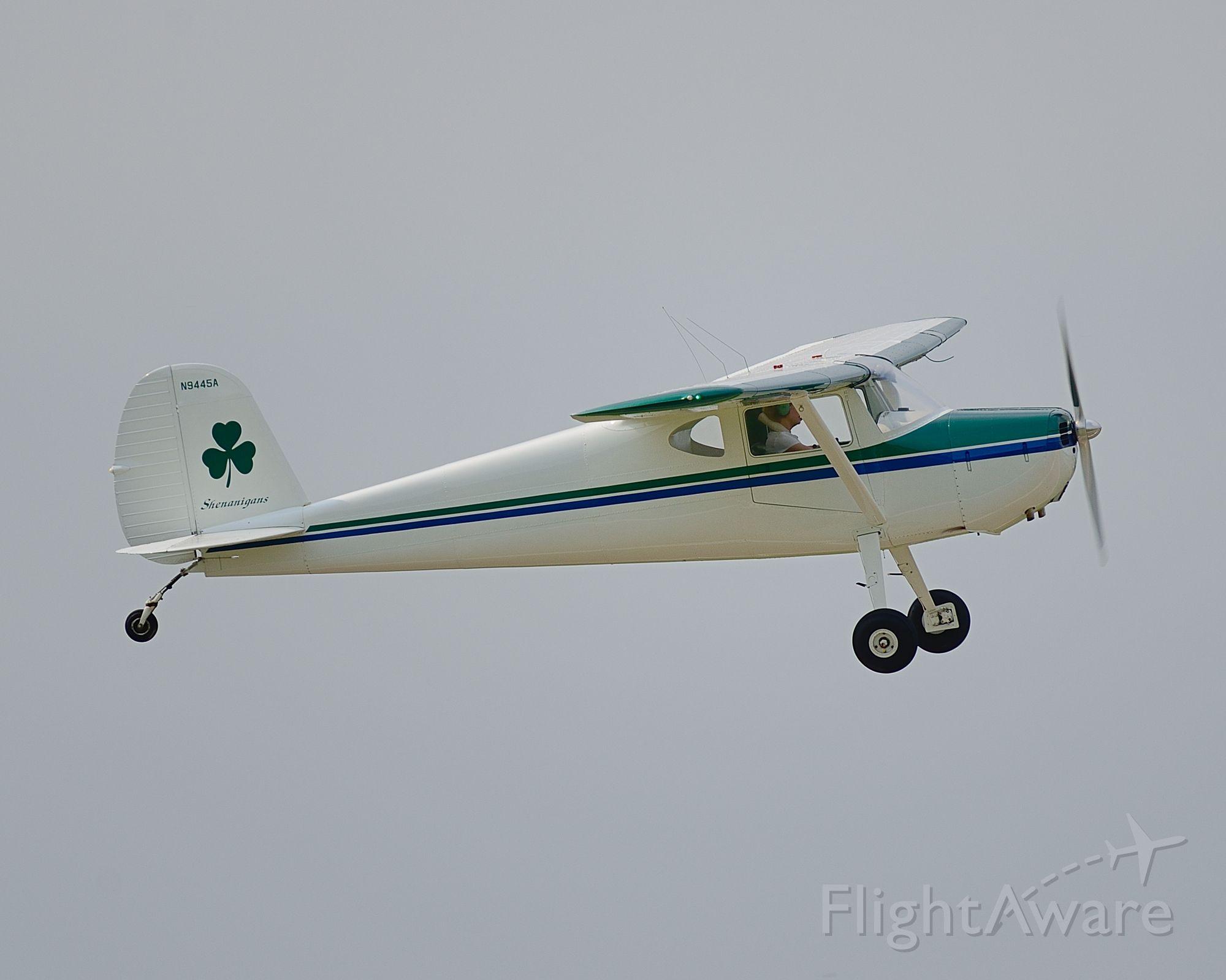 Cessna 140 (N9445A) - Departing Runway 8