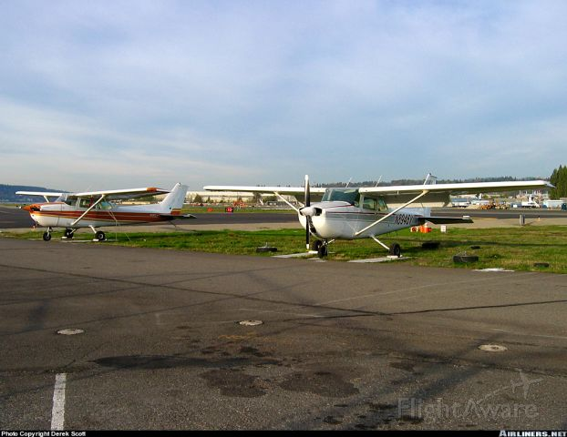 Cessna Skyhawk (N8946V) - Single engine Cessna sitting silently on a Sunday afternoon. Canon A80
