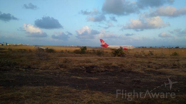 Boeing 747-400 (G-VROS) - Virgin Atlantic to LGWbr /At the end of Adams Taxiway