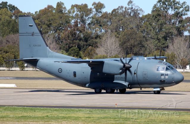 """ALENIA Spartan (C-27J) (A34006) - Taxiing for Departure.A member of """"Wallaby Airlines"""" (35 SQD) With Lovely Tail Logo!"""