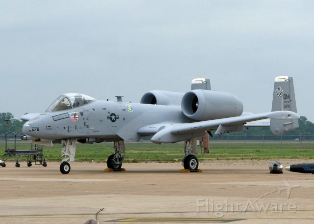 Fairchild-Republic Thunderbolt 2 (80-0278) - At Barksdale Air Force Base.