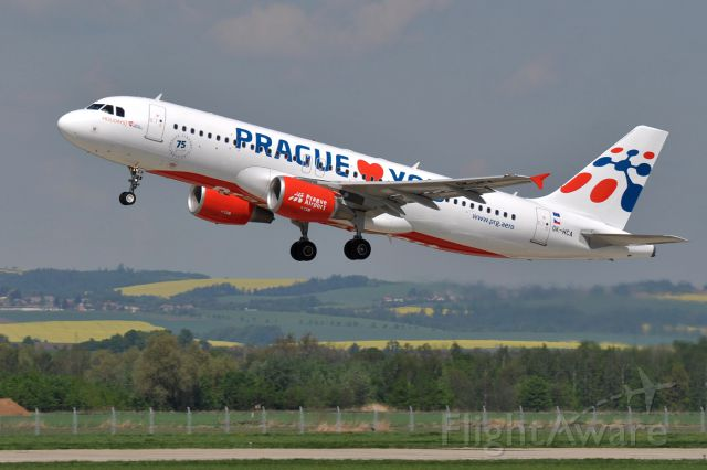 Airbus A320 (OK-HCA) - Prague Airport LogoJet.