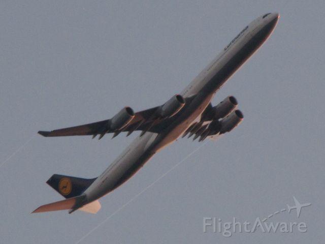 Airbus A340-600 — - DLH 447 departing--KDEN runway 25 flight level 10,900