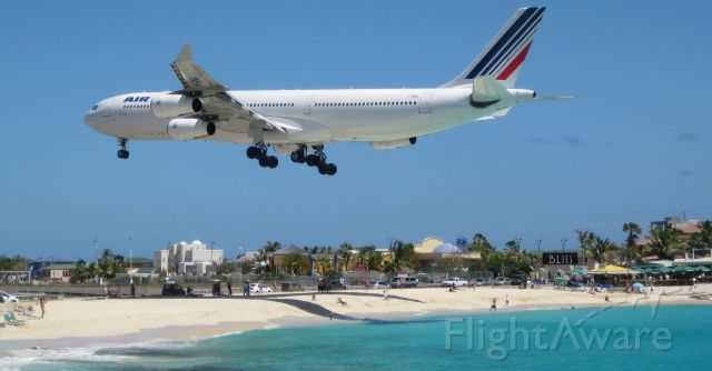 Airbus A340-300 (F-GNII) - On time arrival in St. Maarten
