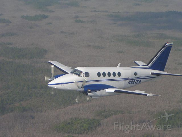 Beechcraft King Air 100 (N921SA) - Over to the Everglades Florida
