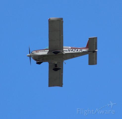 Grumman AA-5 Tiger (N42AR) - Grumman buzzing Northbound over Sandy Hook NJ