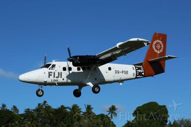 De Havilland Canada Twin Otter (DQ-PSE) - Approach to Runway 11 Taveuni.
