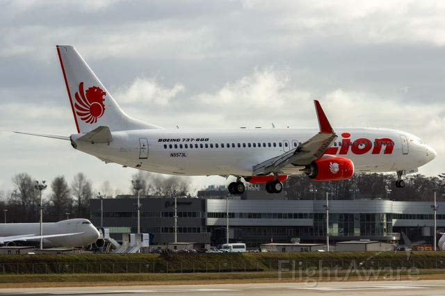 Boeing 737-700 (PK-LOG) - Lion Air B737-8GP(WL) PK-LOG delivered January 8th. Here seen during its last test flight prior to delivery January 3rd.