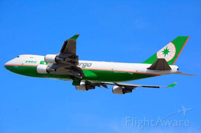 Boeing 747-400 (B-16482) - EVA Air Cargo - B-16482 - B747-400 Freighter - Departing KDFW 01/25/2014