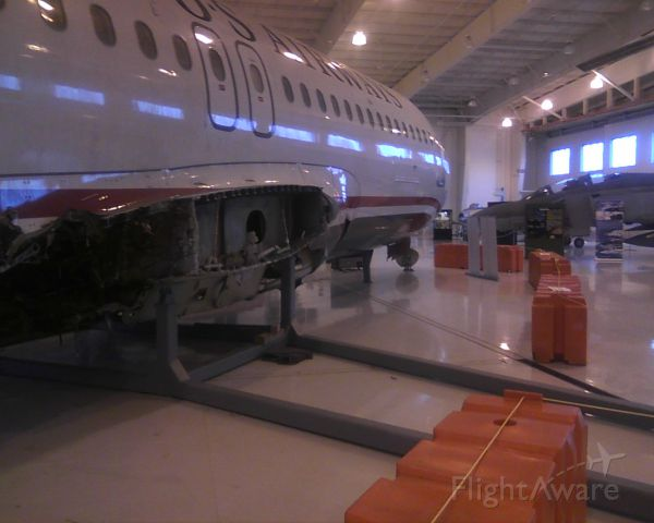 — — - This is the aircraft that went into the Hudson.  It is in the air museum in Charlotte, NC.