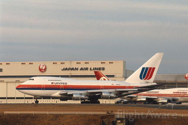 BOEING 747SP (N140UA) - Departure at Narita Intl Airport Rwy34 on 1987/02/19