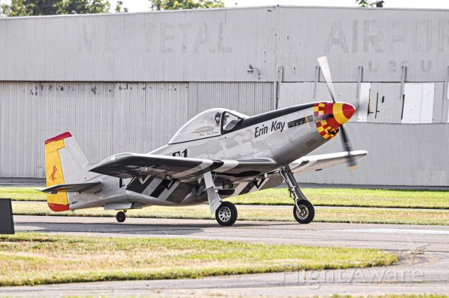 TITAN T-51 Mustang (N260Y) - A Titan T51 (Not a P51) turning off of runway 36 at Metettal Airport.